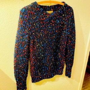 Navy multicolored sweater, warm and EUC, British